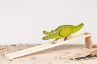Krokodýl s dráhou