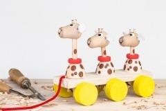 Žirafy na tahání