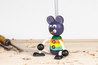 Medvídek na pružině fialový