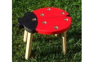 Beruška barevná - děts.židle