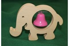 Dřevěná hudební hračka slon