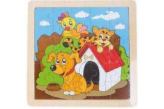 Dřevěné puzzle Pejsek