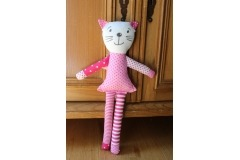 Kočka růžový puntík